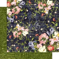 """Midnight Medley - Floral Shoppe Double-Sided Cardstock 12""""X12"""" (25/Pack)"""
