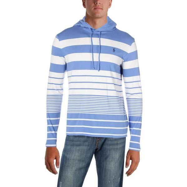ef8720711 Shop Polo Ralph Lauren Mens Hoodie Striped Lightweight - M - Free ...