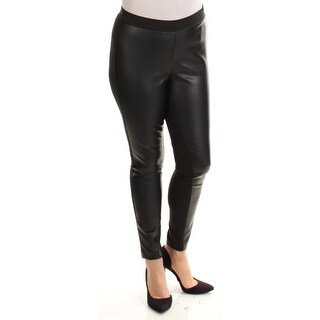 Womens Black Casual Leggings Size 10