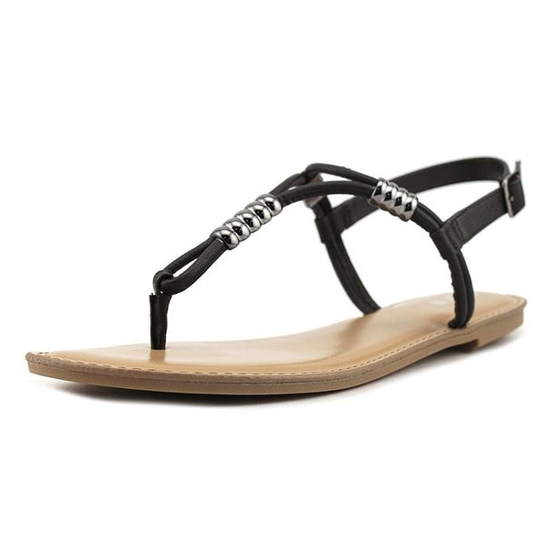 Bar III Womens Vortex Split Toe Casual T-Strap Sandals