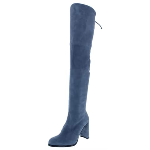 Stuart Weitzman Womens Hiline Over-The-Knee Boots Suede High