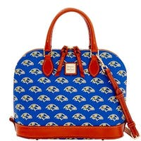 Dooney & Bourke NFL Baltimore Ravens Zip Zip Satchel (Introduced by Dooney & Bourke at $248 in Aug 2016)