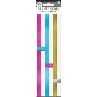 Pink; Gold; Teal - Create 365 Happy Planner Elastic Bands 3/Pkg