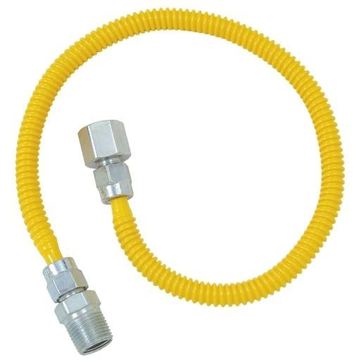 Brass Craft 3/8X24 Gas Connector CSSL54-24P Unit: EACH
