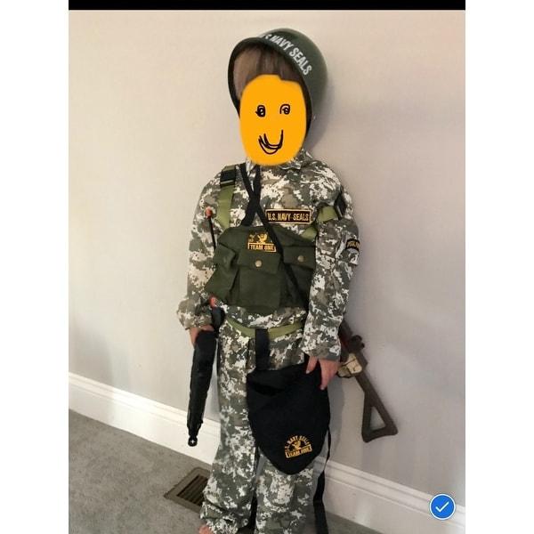 Dress-Up Set Halloween Role Play Medium Navy Seal Boys Costume 8-10 New