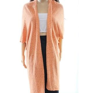 Masai NEW Orange Women's Size Small S Long Open Cardigan Sweater