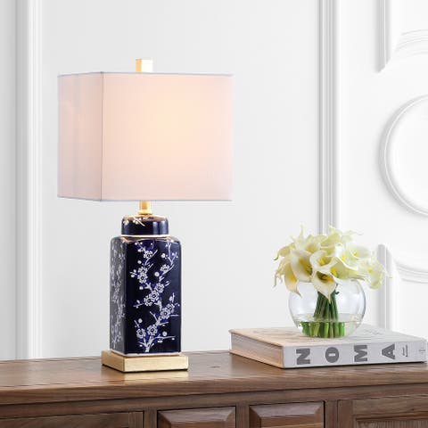 "SAFAVIEH Lighting 22"" Pilar LED Table Lamp (Set of 2) - 10""x10""x22"""