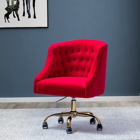 Lydia Button-tufted Velvet Task Chair