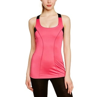Zumba Women's Break Beat Built-In Bra Top - Fuchsia, Small