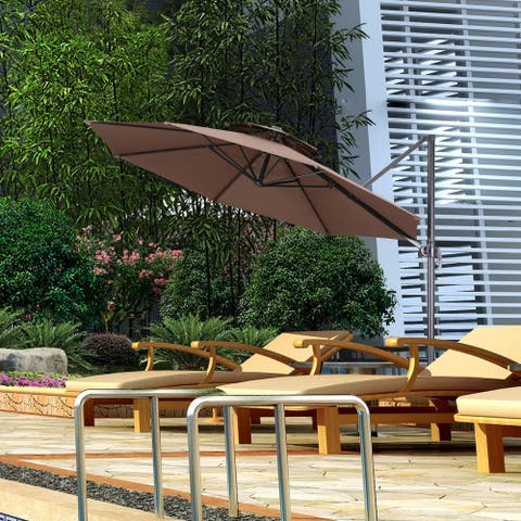 11 ft Patio Windproof Double Top Patio Extra Large Outdoor Umbrella.