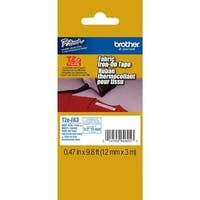 Brother Fabric 1/2 Inch Iron-On Tape - Retail Packaging, Navy Blue On White (Tzefa3) - Retail Packaging