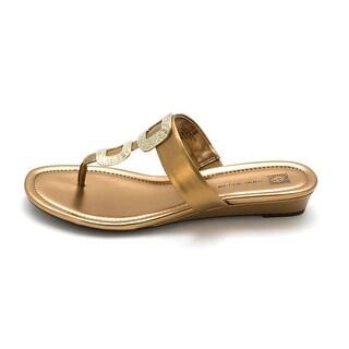 AK Anne Klein Women's Idonta Synthetic Wedge Sandal