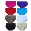 Women's 6 Pack Seamless Solid Color Bikini Panties - Thumbnail 0