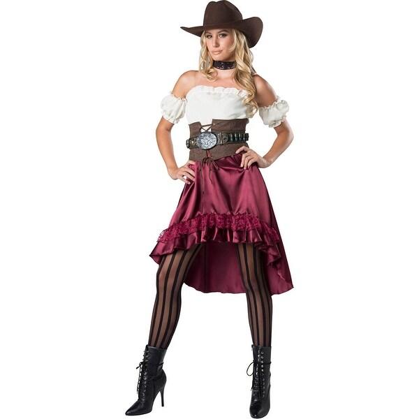 bcc21ad8dbd55 Womens Saloon Gal Western Halloween Costume
