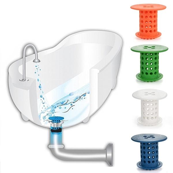 Great HK Bathroom Silicone Hair Catcher Tub Sink Drain Bathtub Protector Drain Hair  Strainer