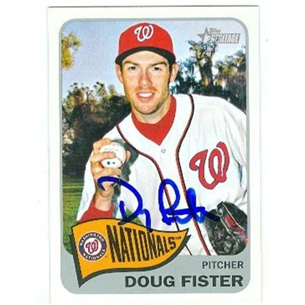 c4102052139 Shop Washington Nationals 2014 Topps Heritage No. 214 Doug Fister ed - Free  Shipping On Orders Over  45 - Overstock.com - 23990413