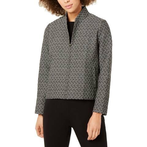 Eileen Fisher Womens Jacket Flight Office Wear - Black - XXS