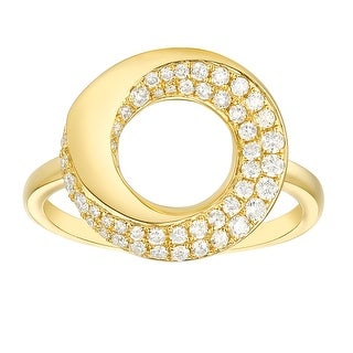 Link to Vedantti 0.39Ct G-H/VVS1 Natural Diamond Open-Circle Bold Everyday Wear Ring Similar Items in Rings