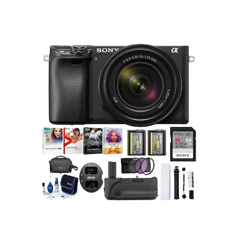 Sony Alpha a6400 Mirrorless Camera with 18-135mm Lens (Black) Bundle