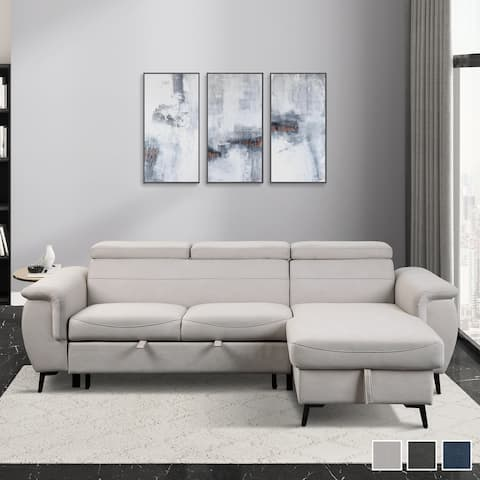 Sadie Reversible Sofa Chaise with Pull-out Bed