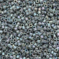 Miyuki Delica Seed Beads 11/0 - Opaque Gray AB DB168 7.2 Grams