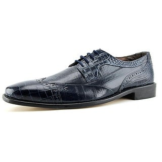 Stacy Adams Galleti Men Round Toe Leather Blue Oxford