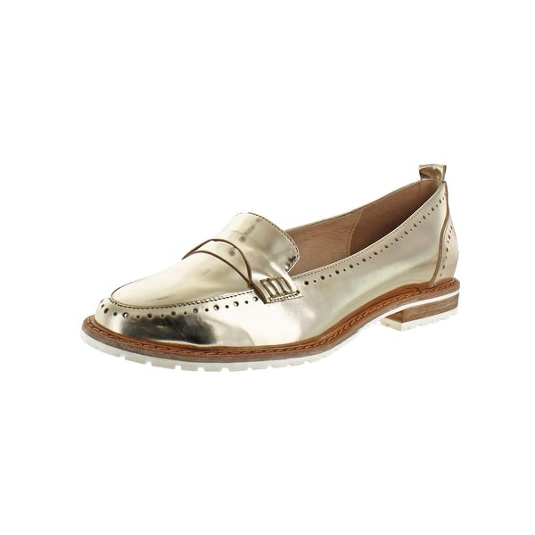 L4L by Lust for Life Womens Sport Fashion Loafers Leather Metallic