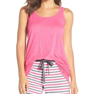 PJ Salvage NEW Pink Women's Size Medium M Lace Trim Tank Sleepshirt
