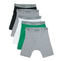 Fruit of the Loom Boy's Cotton Boxer Brief Underwear (Pack of 5)