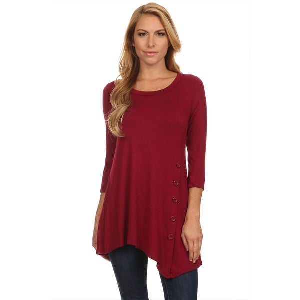 Women's Casual Solid Tunic Top Made in USA. Opens flyout.