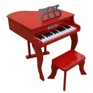 Toy Piano 30 key Carolina Red Fancy Baby Grand with Bench