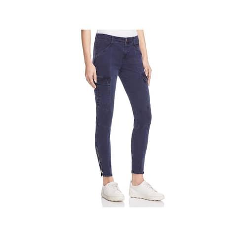 J Brand Womens Houlihan Cargo Pants Twill Destroyed
