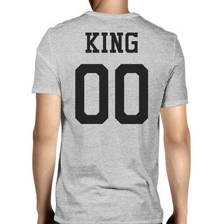 King 00 Back Number Grey Couple Shirt Perfect For Family Pictures