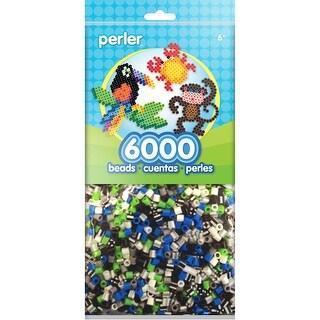 Perler Beads 6,000/Pkg-Black, White & Blue