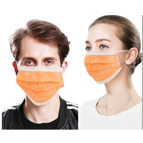 50 PcsFace Cover Masks 3Ply Layers with Earloop, Breathable Non-Woven