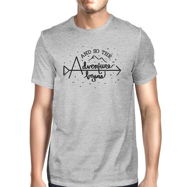 1a38b944 Shop Adventure Begins Mens Grey Unique Graduation Gift Tee Shirt For ...