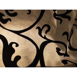 VCNY Brandy Flocked 84-Inch Back Tab Curtain Panel
