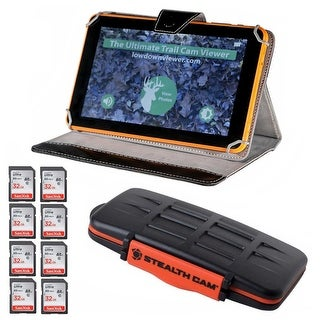"""Lowdown 9-In Trail Camera Image/Video Viewer with 32GB Cards & Holder - 9"""""""