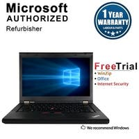 "Refurbished Lenovo ThinkPad T430 14"" Laptop Intel Core I7 3520M 2.9G 8G DDR3 500G DVDRW Win 10 Professional 64 1 Year Warranty"