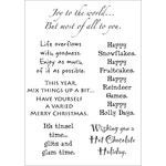 "Words To The Rescue Clear Stamps 8""X4.5""-Christmas"