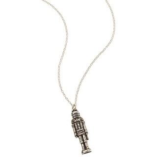 "Floriana Women's Nutcracker Pendant Necklace - 1 1/4"" Sterling Silver"
