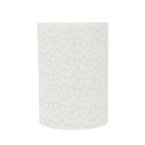 "Aspen Creative Drum (Cylinder) Shaped Spider Construction Lamp Shade in White (8"" x 8"" x 11"")"
