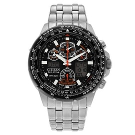 Citizen Men's 'Skyhawk' JY0000-53E Stainless Steel Chronograph Link Watch