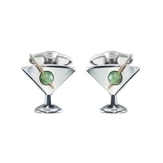 Dolan Bullock Sterling Silver Men's Martini Cufflinks