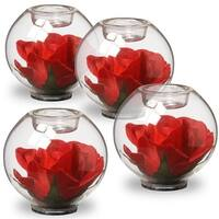 National Tree RAV-QA030123-1 4 in. Decorated Glass with Rose Inside