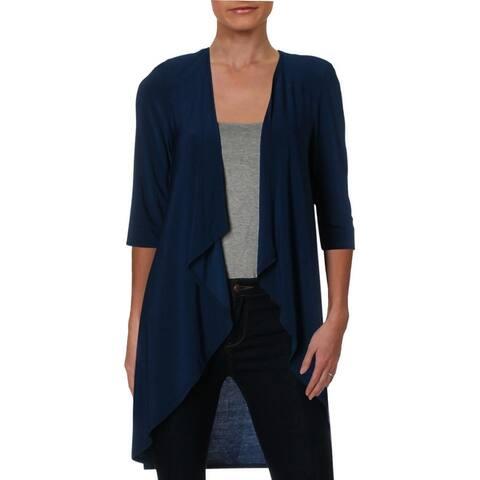 R&M Richards Womens Petites Jacket Matte Jersey Office
