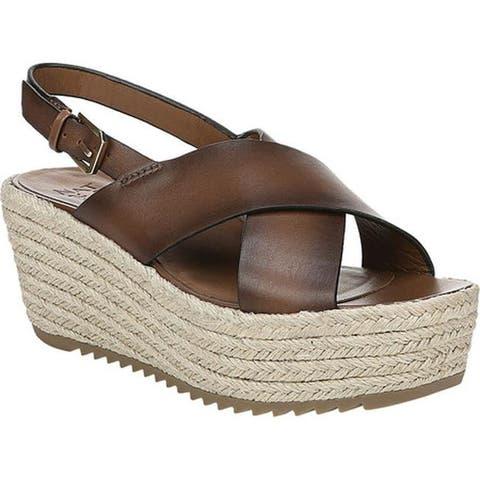 82c37f436381 Naturalizer Women s Oak Espadrille Slingback Sandal Lodge Brown Leather