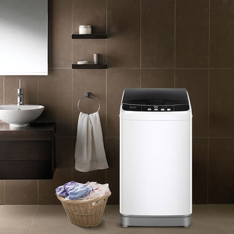 Full-Automatic Washing Machine Portable Compact Laundry Washer Spin