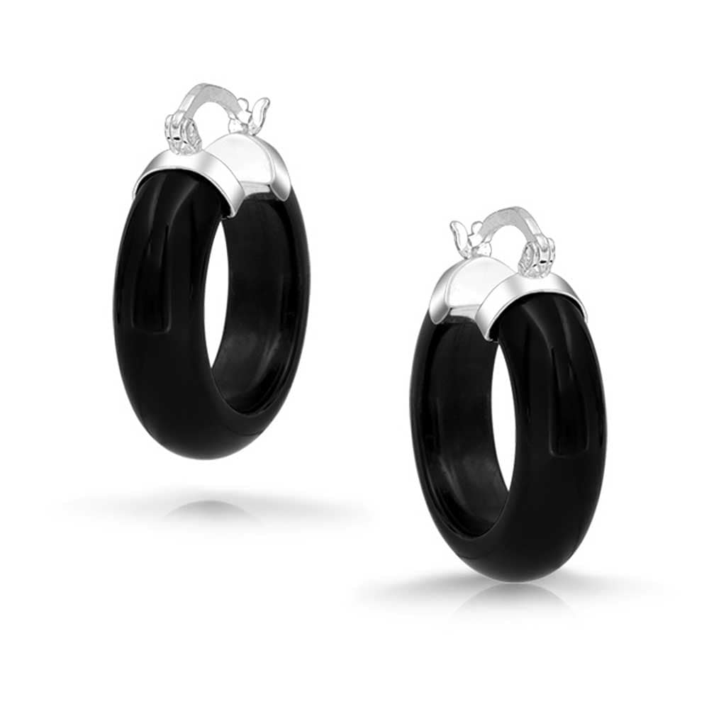 new real sterling silver 925 drop stud earrings black onyx stones wire fitting