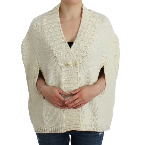 Costume National White knitted Women's cardigan